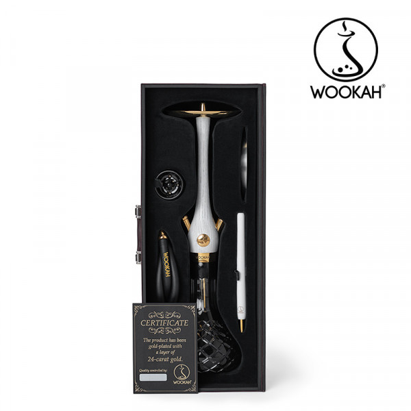 Wookah 24K Gold-Plated White Nox Check Black Set